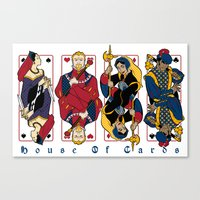 house of cards Canvas Prints featuring House of Cards by Crystal Yates