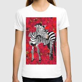 ZEBRA AND FLOWERS T-shirt