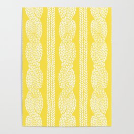 Cable Row Yellow Poster