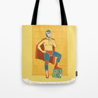 library Tote Bags featuring Lucha Library by ringo