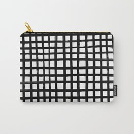 Hand-painted Grid Carry-All Pouch