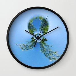 blue green planet bug Wall Clock