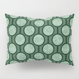 Retro-Delight - Simple Circles (Laced) - Sage Pillow Sham