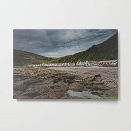Small Village by the Ocean Metal Print