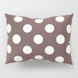 Liver - purple - White Polka Dots - Pois Pattern Pillow Sham