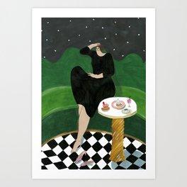 India Mahdavi for Ladurée Quai des Bergues Art Print