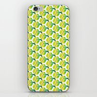 green pattern iPhone & iPod Skins featuring pattern green by colli1.3designs