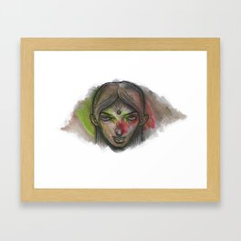 Hold your stare Framed Art Print