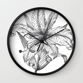 Engraved Lilly Wall Clock