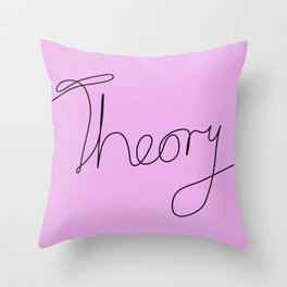 String Theory - Playful, pun, humorous, physics joke, black and pink Throw Pillow