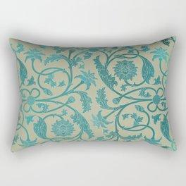 Blue Lotus Pattern Rectangular Pillow