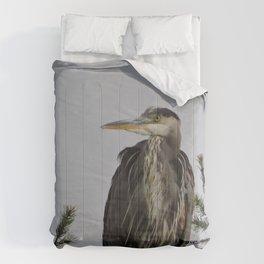 Tree Top Heron at Dawson Creek Park Comforters