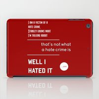 michael scott iPad Cases featuring Michael Scott on Hate Crimes (The Office) by thebuccanear