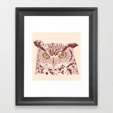 Peering Owl Framed Art Print