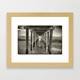 Under The Peir Framed Art Print