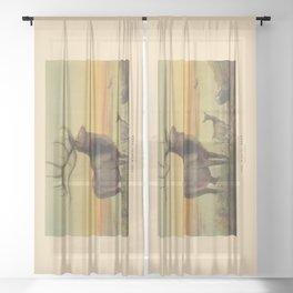 The Wapiti Deer Sheer Curtain