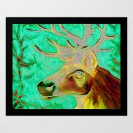 Caribou Print from Original Canvas Painting Art Print