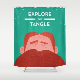 IOTA - Explore the Tangle II Shower Curtain