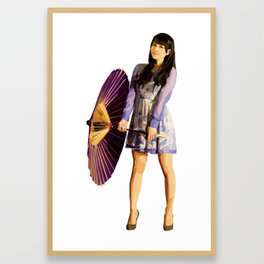 Purple Umbrella Framed Art Print