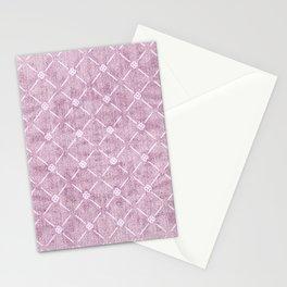 Faux Velvet Dusty Mauve Light Diamond Pattern Stationery Cards