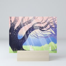 Soft Light On Soft Bunnies In Aloquil's Glades Mini Art Print