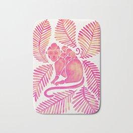 Monkey Cuddles – Pink Palette Bath Mat