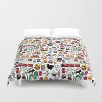 harry Duvet Covers featuring Kawaii Harry Potter Doodle by KiraKiraDoodles