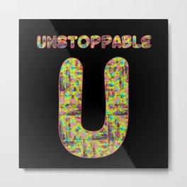 Alphabet - Unstoppable U Metal Print