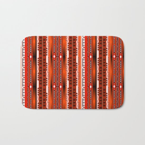 Ethnic stripes. Tribal pattern Indians. Bath Mat