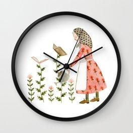 book harvest Wall Clock
