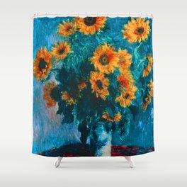 Bouquet of Sunflowers - Claude Monet 1880 Shower Curtain