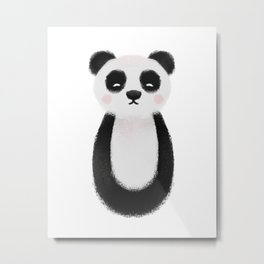 Panda Nursery Art Metal Print
