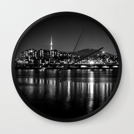 Seoul At Night Wall Clock