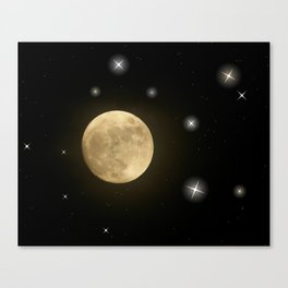 Moon is on Canvas Print