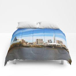 Downtown Winnipeg 2 Picture Panorama Comforters