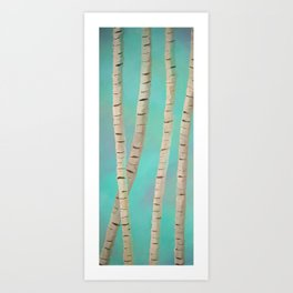 Lazy Birch Art Print