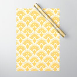 Fan Pattern 331 Yellow Wrapping Paper