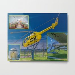 Visitors Park Airport Munich Bavaria Germany Metal Print