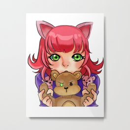 Annie and Tibbers lol Metal Print