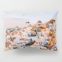 Dreaming at Dusk | Santorini, Greece Pillow Sham