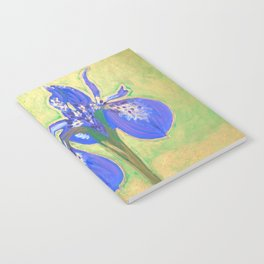 Two Irises Chatting by artbykost Notebook
