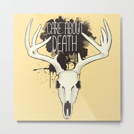 Care About Death Metal Print