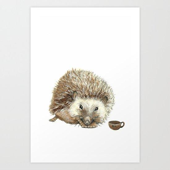 Hector the Hedgehog Art Print