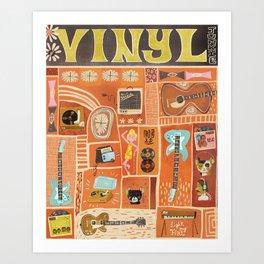 Vinyl junkie Art Print