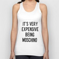 moschino Tank Tops featuring It's Very Expensive Being Moschino by RickyRicardo787