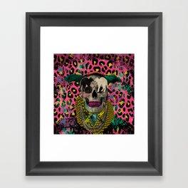 Skull & Cats Framed Art Print