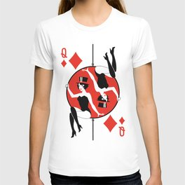 Sawdust Deck: The Queen of Diamonds T-shirt