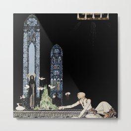 """""""On that Island there is a Church"""" by Kay Nielsen 1910 Metal Print"""