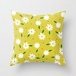 spring, yellow Throw Pillow