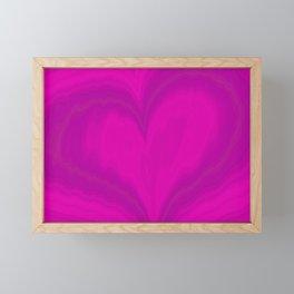 Valentines Day Purple Heart Glitch Pattern Framed Mini Art Print